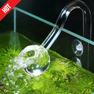 £14.19 • Buy Aquarium Planted Glass Outflow / Inflow Lily Pipe Tube For Fish Tank 13mm/17mm