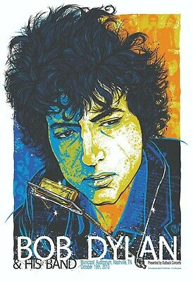 $18.95 • Buy Bob Dylan 13  X 19  Reproduction Concert Poster Archival Quality #2