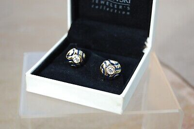 £59.99 • Buy Pair Of Swarovski Crystal 'Jeweller's Collection' Cufflinks. Gold Tone & Blue.