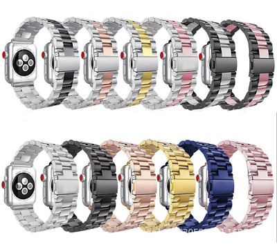 AU18.99 • Buy Stainless Steel Strap For Apple Watch Series 6/5/4/3/2/1 SE 38-44mm IWatch Band