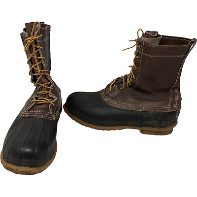 £46.61 • Buy VTG LL Bean Boots Insulated Brown Maine Hunting Shoes Size 9 Muck Duck USA Made