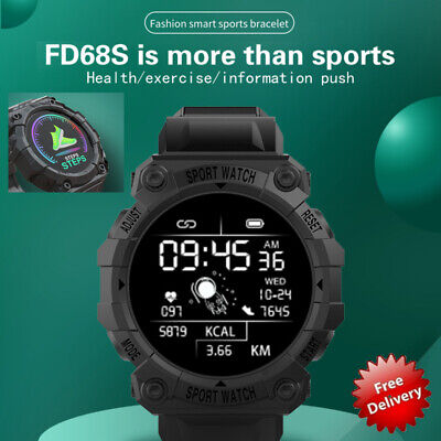 AU16.19 • Buy Smart Watch Bluetooth Sport Heart Rate Blood Pressure Waterproof For IOS Android