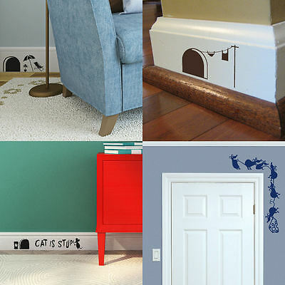 £1.99 • Buy Mouse Door Wall Stickers! Skirting Board Transfer Graphic Mice Decal Decor