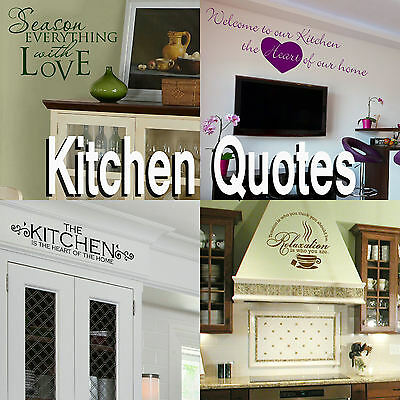 £6.99 • Buy Kitchen Quote Wall Stickers! Transfer Graphic Decal Decor Stencil  Dining Room