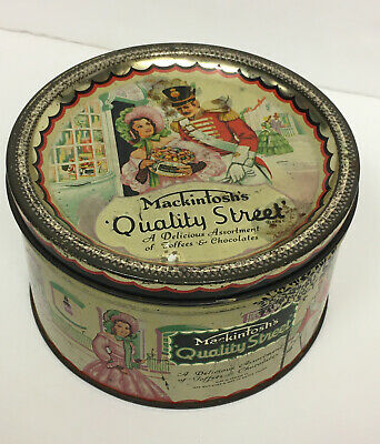 £10 • Buy Vintage Mackintosh's Quality Street Small Tin 1950/60's. BLAST FROM THE PAST!