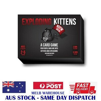 AU29.99 • Buy New Game - Exploding Kittens Nsfw Deck - Super Fun Adult Party Game - Melb Stock