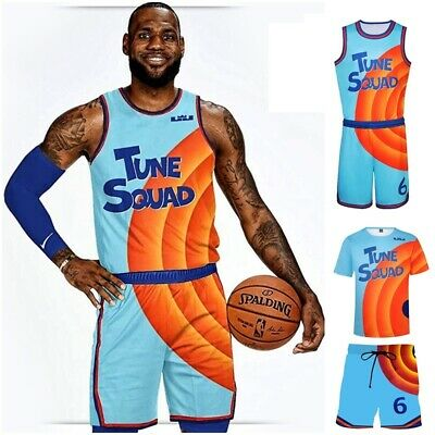 £14.99 • Buy Mens Boys Space Jam 2 Costume Basketball T-shirt Shirt Vest Tops+Shorts Outfit