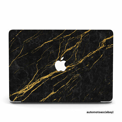$20.99 • Buy Upscale Black Gold Marble Laptop Case For Macbook Pro Air 11 12 13 M1 15 16 Inch