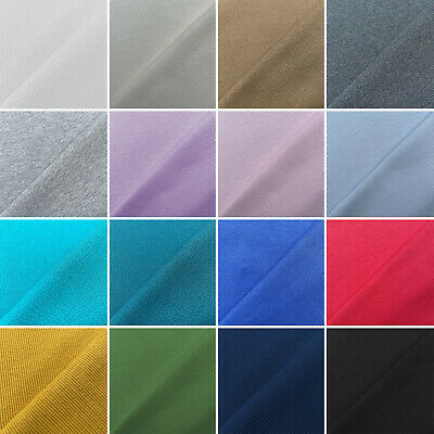 £4.95 • Buy Plain Coloured Ribbing Stretch Tubular Ribbed Cuff Cuffing Cotton Jersey Fabric
