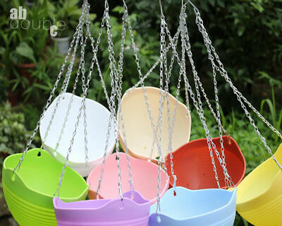 £6.69 • Buy 6Pc 45CM Garden Hanging Basket Spare Metal Chains Easy Fit Replacement Hanger UK