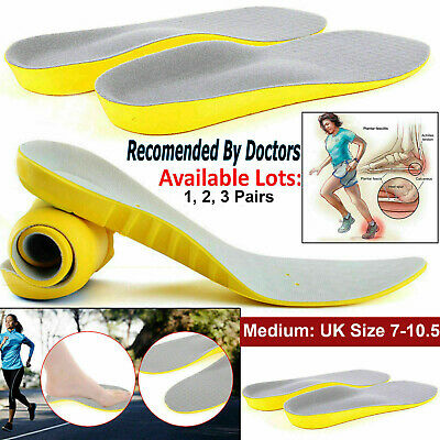 £3.04 • Buy Shoe Orthotic Insoles Plantar Fasciitis Arch Support For Flat Feet Back Pain UK
