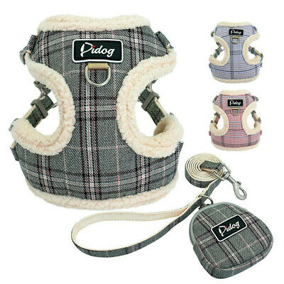 £6.89 • Buy Warm Dog Harness And Lead Winter Pet Cat Puppy Vest Clothes Coats For Chihuahua