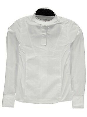 £19.99 • Buy Tagg Ascot Equestrian Show Jumping Shirt White With White Collar  Xl