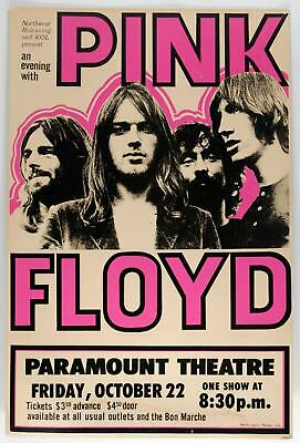 $4.99 • Buy Pink Floyd Reproduction 4  X 6  Mini Concert Poster Free Top Loader  #2