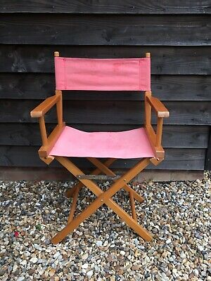 £36 • Buy Vintage Retro Directors Chair Red Folding Garden Camping Wooden Chair Sturdy