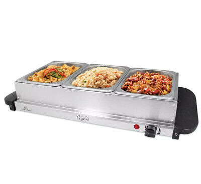 £34.21 • Buy Electric Food Warmer Buffet Server Adjustable 200w Temperature Hot Plate Tray
