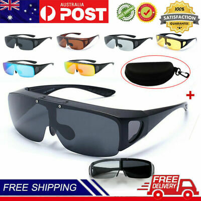 AU16.49 • Buy Large Flip Up POLARIZED Fit Over Sunglasses Wear Rx Glass Fit Driving Anti-UV400