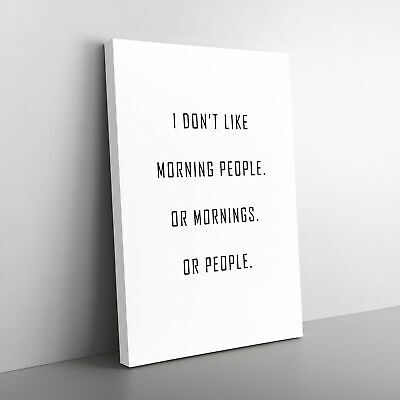 £24.95 • Buy Morning People Typography Canvas Print Wall Art Picture