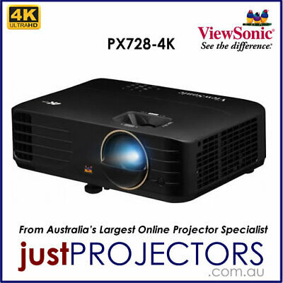 AU1799 • Buy Viewsonic PX728-4K 4K Projector From Just Projectors Aussie Release 3 Year Wrnty