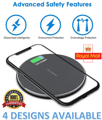 £4.99 • Buy Wireless Charger Smart Qi Fast Charging Pad For Apple IPhone 11 X Xr XS 12/12PRO