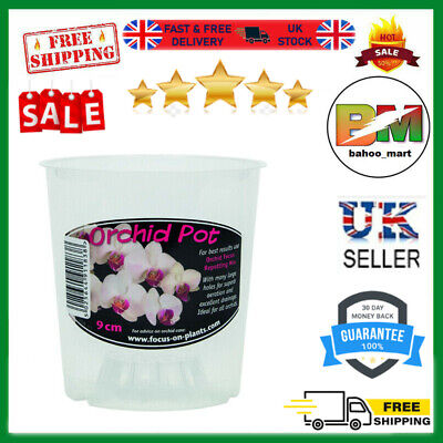 £1.99 • Buy Clear Orchid Pot 9cm Robust, Ideal For Phalaenopsis Orchid Growing