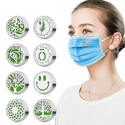 AU3.99 • Buy Essential Oil Diffuser Mask Air Fresh Aromatherapy Magnetic Buckle 12 Felt Pads