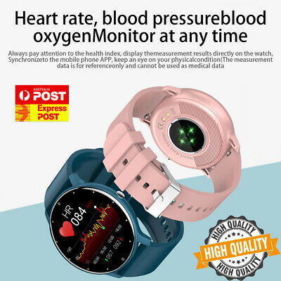 AU37.85 • Buy Smart Watch Sport Heart Rate Blood Pressure Monitor Waterproof For IOS Android