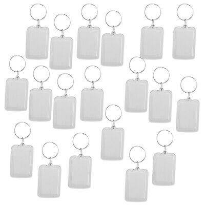 £6.31 • Buy   Oblong Blank Clear Acrylic Keyring Make Your Own