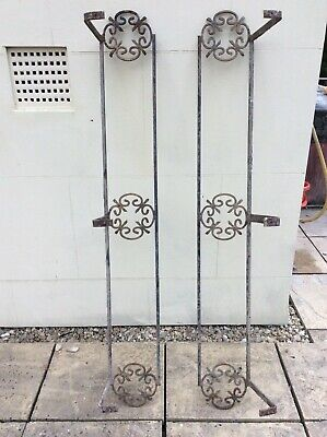 £165 • Buy Antique Pair Of Original Victorian Wrought Iron Window Boxes / Planters