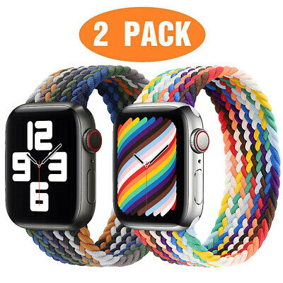 AU15.99 • Buy For Apple Watch Braided Solo Loop Band Strap 40/42/44mm IWatch Series 6 5 4 3 SE