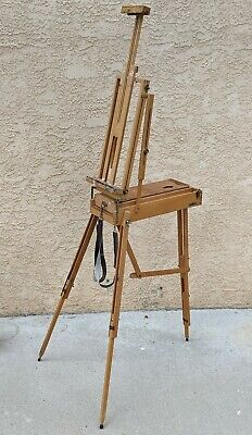 £153.25 • Buy Wooden Travel Handle Collapsible Drawer Art Easel ITALY Vintage MABEF Full Size