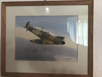 £185 • Buy Colin Ashford Original Watercolour Of A Spitfire Signed *highly Collectible