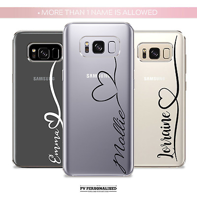 £1.99 • Buy Personalised Phone Case Cover Silicone Initials Name For Samsung S10 S20 S9+ S8+