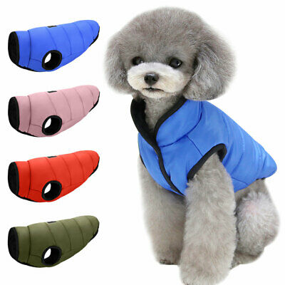 £7.59 • Buy Small Dog Coats For Winter Fleece Warm Puppy Pet Jacket Chihuahua Clothes Yorkie
