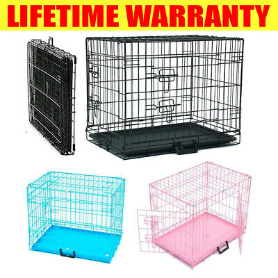 £32.30 • Buy Portable Folding Dog Crate With Removable Tray Small-Large Size 20-24-30-36 Inch