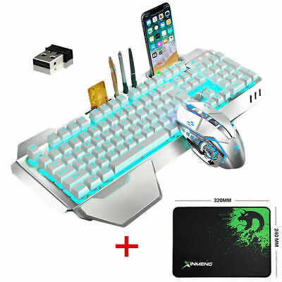 AU57.99 • Buy Gaming Keyboard And Mouse Set Rechargeable Wireless LED Backlit For PS4PC Laptop