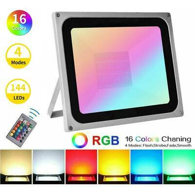 £14.59 • Buy RGB LED Floodlight 10W-100W Waterproof Colour Changing Outdoor Garden Spotlights