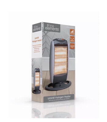 £21.89 • Buy 1200W Halogen Heater 3 Bar Heat Settings High Quality Resistant Base Home Office