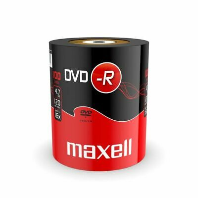 £14.99 • Buy 100 Maxell DVD-R RECORDABLE 16x Speed Blank Discs 4.7GB  100 PACK