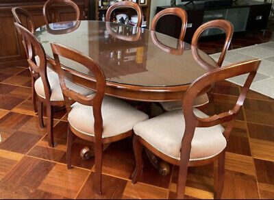 AU600 • Buy Solid Mahogany Dining Table And 8 Chairs