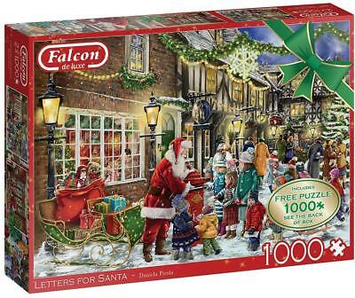 £15.61 • Buy Falcon Deluxe Letters For Santa Jigsaw Puzzles (2 X 1000 Pieces)