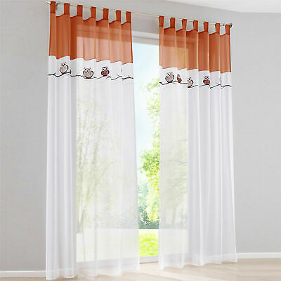 £15.99 • Buy Curtains Net Panel Embroidered Tab Top/Pencil Sheer Pleat Ready Made Blind