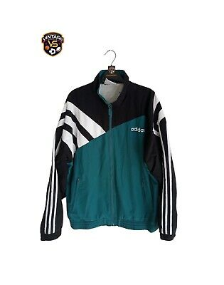 £49.99 • Buy Vintage Adidas Track Top Jacket 1995 (M) Green Black White Liverpool Template