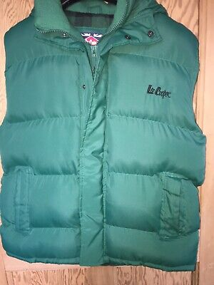 £19.99 • Buy Men's LEE COOPER Green Quilted Gilet / Body Warmer -with Hood Size XL
