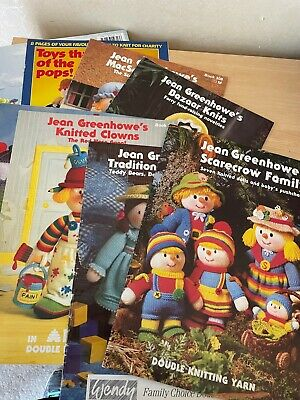 £4.99 • Buy Jean Greenhowe's Character Knitting Pattern Booklets Dolls Scarecrows Bears Etc