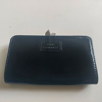 £12.99 • Buy Lulu Guinness Coin Purse. Black Patent With Clasp.