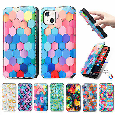 AU13.29 • Buy For IPhone 13 12 11 Pro XS Max XR 7/8 Plus Marble Wallet Leather Flip Case Cover