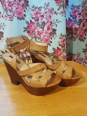 £12.99 • Buy Miss Selfridge Leather Wedge Shoes Size 5