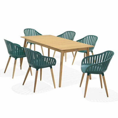 AU1590 • Buy Marina Outdoor Recycled Plastic 6 Seater Rectangle Timber Dining Setting   Patio