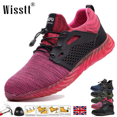 £22.99 • Buy Women's Steel Toe Cap Work Boots Safety Shoes Military Walking Hiking Trainers M